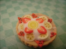 Polymer clay tart charm by AliceCharms