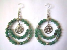 Pagan Priestess Earrings by HisImmortal1922