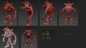Classic Crash Bandicoot HD remake 3D model by LavelleBears