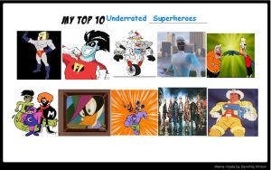 K-dog0202's Top 10 Underrated Superheroes by K-dog0202