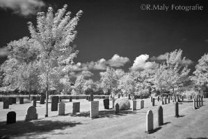 IR Graveyard by TLO-Photography