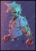 Savage dragon - colors by Rexbegonia