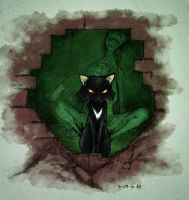 31 DOH: Black Cat by croonstreet