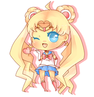 Sailor Moon chibi by rolly-kun