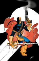 Deathstroke v. Punisher by wjh1170
