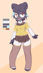 Reverse Color Panda Outfit by CoffeeChicken