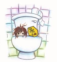 Don't Forget To Flush Me by kayeah