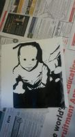 Screen Print of my son by ValkarieCain
