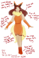 Gijinka!Flareon Cosplay Rough Draft by NoaQep