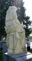 Mount Olivet Cemetery Woman 99 by Falln-Stock