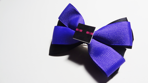 Minecraft ft. Enderman Hair Bow by spookzz