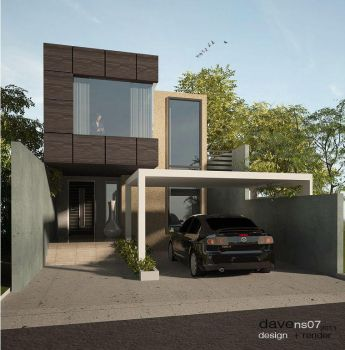 2 storey contemporary house by davens07