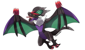 Noivern the Sound Wyvern pokemon by Phatmon66