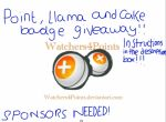 POINT LLAMA CAKE BADGE GIVEAWAY *Sponsors Needed!* by Watchers4Points