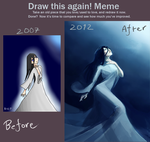 Before and After, 2007 vs. 2012 by Kurai-Kaze