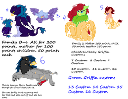 Griffin Adoptables 2 by Sarahostervig