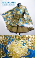 Japanese Chrysanthemum Kimono Dress by DarlingArmy