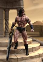 Barbarian Warrior by supersolidusnake