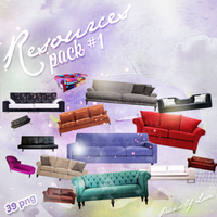 Sofa PNG Pack by melismerve22