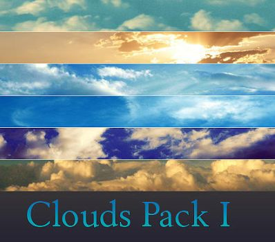 Clouds Pack I by Elusivestock