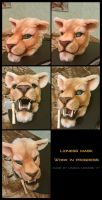 Lioness Head by OmegaLioness