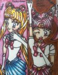 Sailormoon and sailor mini moon book marks by pie-chan34
