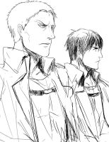 [doodles] Reiner and Bertholdt by rainbuni