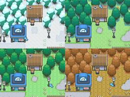 Pokemon Paradise Seasons by Venom12314