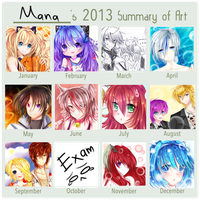 Art Summary 2013 by AngelicsMana