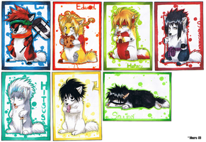Anime chibi dogs by mourum