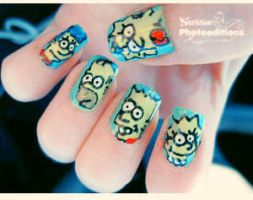 Simpsons Nails by susanasussie97