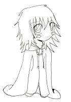 Marluxia Chibi 2 lineart or by LunaticFlowerxX