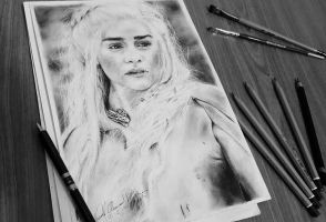 Daenerys Targaryen Drawing by ahmadmdaher