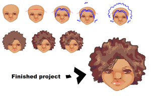 How to draw afros by JamGirl0808