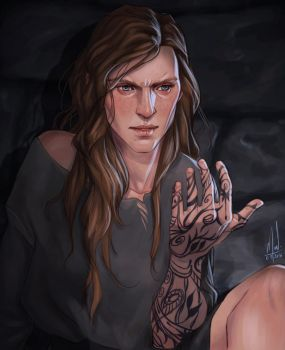 Feyre's Tattoo by Merwild