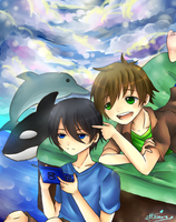 Babu haru and mako channnn by etto-sama