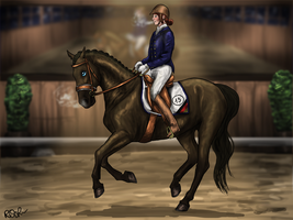 2nd - RWES - 3DE - Ginger - Dressage by RQsf