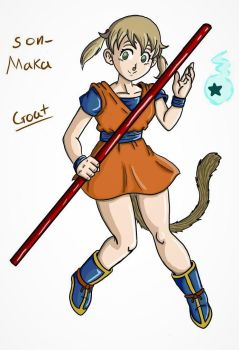 Son Maka (Dbz/Soul Eater) Crossover by GhoastGoat77