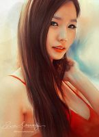 Asian Beauty 15 - A portrait of my friend by Amro0