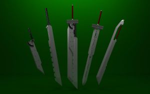 Fusion swords by TheForgottenSaint47