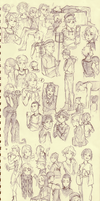 fifty shades of sketchdump by BloodlineV