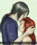 Itachi x Lina: kiss on a forehead by farah777