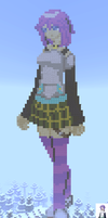 Mizore in Minecraft by CyberTheHedgehog270