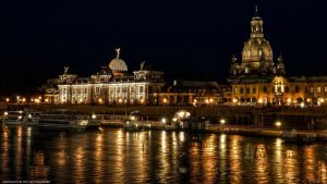 Frauenkirche Dresden by night by pingallery