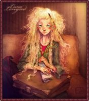 Luna Lovegood illustration by la-maiii