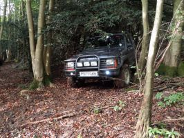 Isuzu Trooper going downhill by bergunty