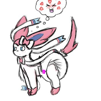 Diapered Sylveon. by Mewzy148
