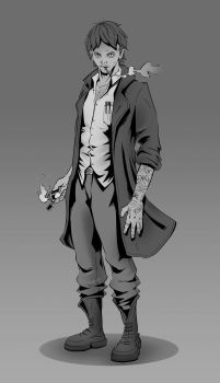 Dalston Prior Character Sketch by duartevasco by Drew-Writer
