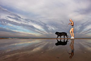 The Lady with the Dog by ahermin