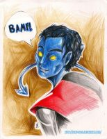 Nightcrawler: bamf by Saku-Zelda